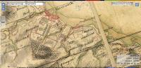 Roys 1755 map shows the tree lined avenue running up from the town along what is now Ann Street. Drumfrochar farm can also be seen.