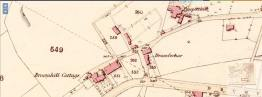 1860s map showing Broomhill Cottage