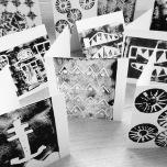 Lino Print Cards B&W