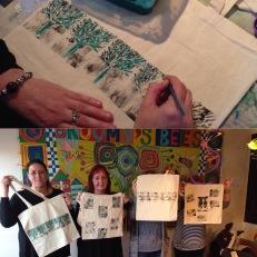 Lino Printed Tote Bag